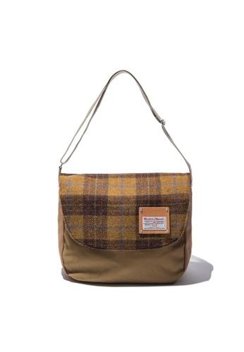The Earth Harris Tweed Cross Bag - Mustard (New) TH763AC91OIYHK_1