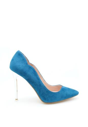 PRODUIT PARFAIT blue Chrome Heel Dress Pumps E1D87SHEE198A1GS_1