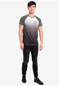 ea439832067 50% OFF Burton Menswear London Grey Dip Dye Raglan T-Shirt RM 99.00 NOW RM  49.50 Sizes M