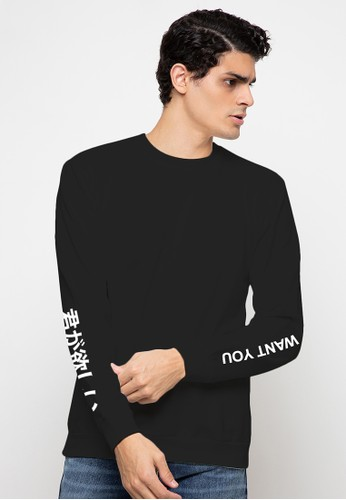 BASIC ONE black Basic One Sweatshirt I Just Want You Black E1822AA96AE1D2GS_1