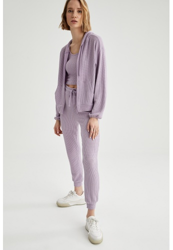 DeFacto purple Woman Knitted Cardigan 910D0AA3536976GS_1