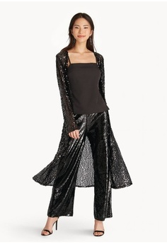 bc356ad2c1 Psst... we have already received your request. Pomelo. Sheer Sequin Cover  Up - Black