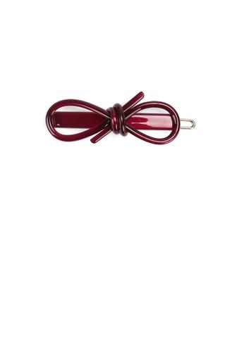 Glamorousky purple Simple Fashion Purple Ribbon Hair Clip 6D3BFAC6FC5DF0GS_1