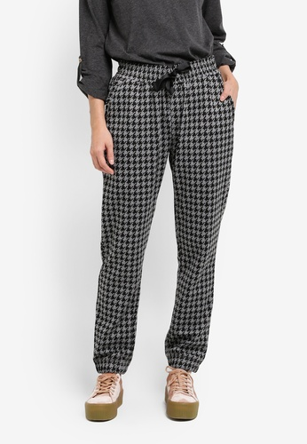 UniqTee grey Houndstooth Drawstring Joggers UN097AA0SHDHMY_1