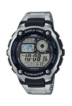 harga Casio Jam Tangan Pria - Silver Black - Stainless Steel - AE-2100WD-1AVDF Zalora.co.id
