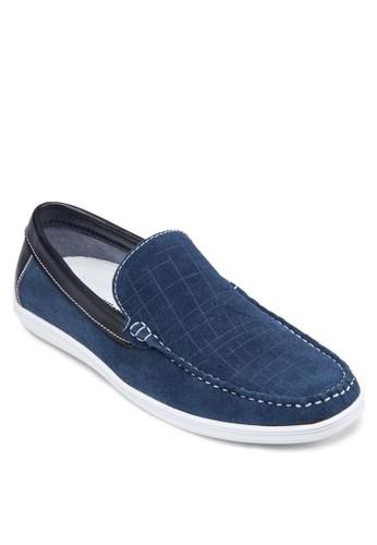 皮革拼esprit outlet接樂福鞋, 鞋, 船型鞋