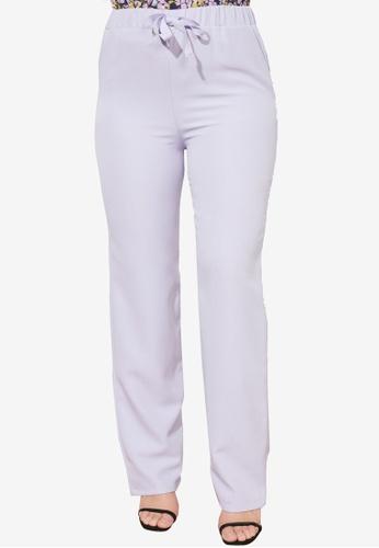 Trendyol blue Straight Cut Trousers F9E08AAD9FACB4GS_1