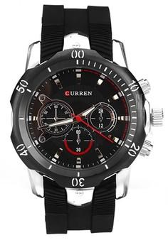 Curren Sport Men's Rubber Strap Watch 8163