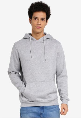 Factorie grey Plain Hoodie 22D48AABF5E687GS_1