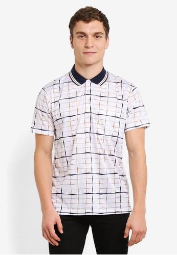 BGM POLO white Printed Polo Shirt BG646AA0S0L1MY_1