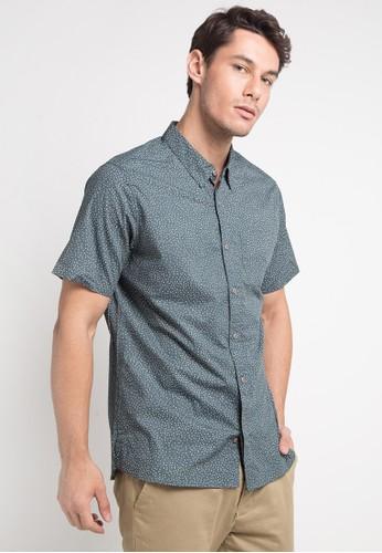 hurley green and multi Dri-Fit Tod Short Sleeve Shirt 7C8CAAA853C6ECGS_1