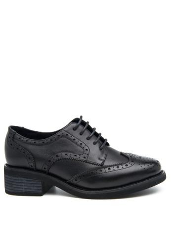 Twenty Eight Shoes 黑色 真皮經典小踭牛津鞋 BS1870-1 DEAE9SH72FAD6DGS_1