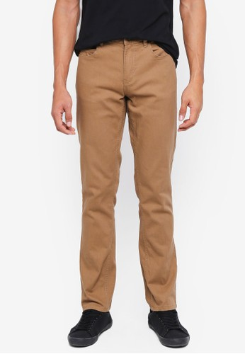 threads by the produce brown Twill Slim Jeans 9F384AA69ED32CGS_1