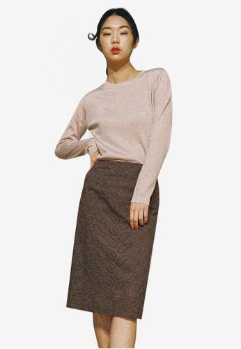 Among's佩斯利裙子esprit taiwan, 服飾, 及膝裙