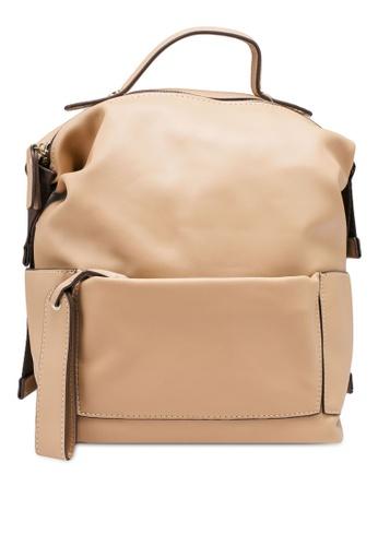 NATALIE & PEPPER brown Aleena Boxy Backpack 005CEACFA07A89GS_1
