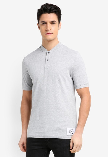 Calvin Klein grey A-Primo 2 Regular Short Sleeve Polo Shirt - Calvin Klein Jeans 26B91AA9DA8551GS_1