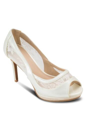 蕾絲魚口高跟鞋,esprit香港分店 女鞋, 鞋