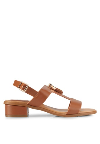 Alfio Raldo brown Strappy Heeled Sandals 67541SH3EF187AGS_1