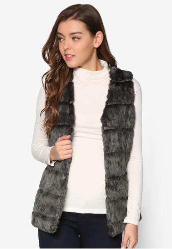 毛呢無袖esprit台灣門市外套, 服飾, 服飾
