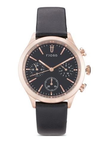 esprit分店Agna 圓框皮革手錶, 錶類, 飾品配件