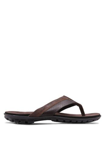 Bata brown Casual Toe Post Sandals 9D51ESH4953402GS_1