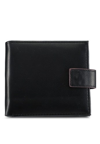 Burton Menswear London black Black Clasp Wallet BU964AC0SILMMY_1