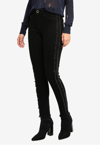 Guess black Guess 1981 Fringed Cuff Jeans C0A53AA965F065GS_1