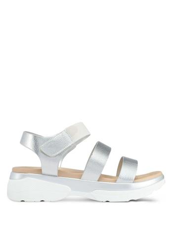 Bata silver Bata Metallic Velcro Strappy Sandals F0B38SHBF4A4EAGS_1