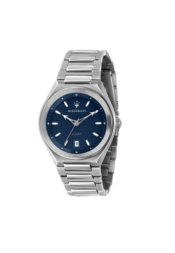 Maserati silver Triconic Quartz Watch Silver Steel R8853139002 56212AC61CD943GS_1