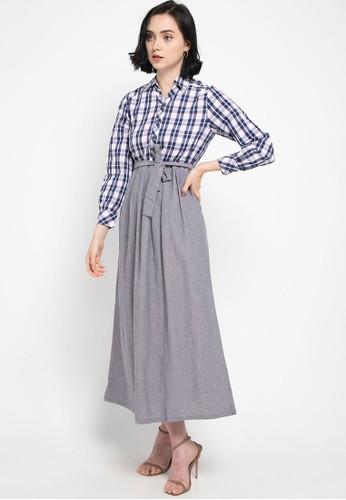 novel.mice grey Fabric Long Dress 85A9DAA8B9E2FDGS_1