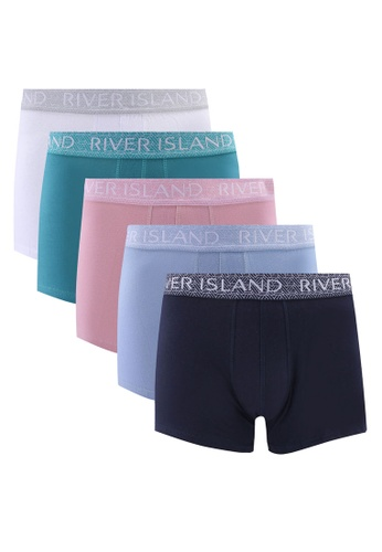 River Island pink Geo Pastels Hipsters Trunks 5PP 36F81USD1942BFGS_1
