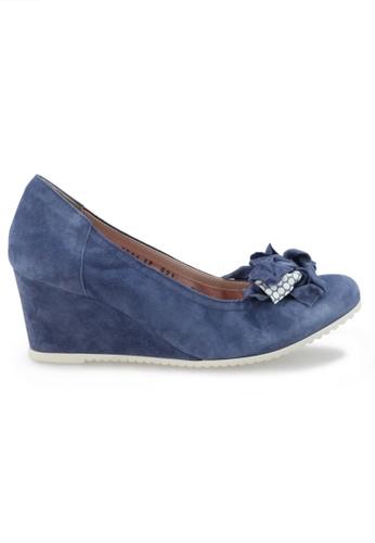 Shu Talk 藍色 意大利手工輕巧蝴蝶結增高鞋 SH544SH09RJFTW_1