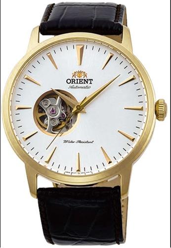 Orient brown Orient Men's Brown Leather Watch - SAG02003W0 FF358AC34E6765GS_1