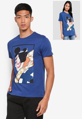 UniqTee blue Samurai Graphic Tee 6E370AA87A610EGS_1