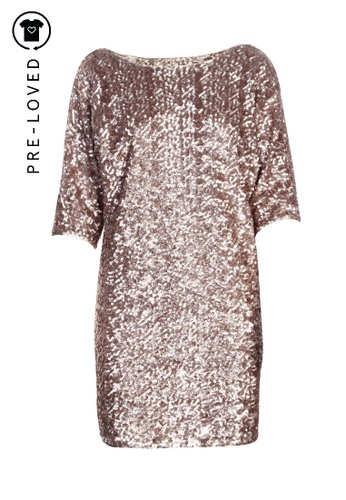 Rachel Zoe gold Pre-Loved rachel zoe Sequins Party Dress 18FACAA8E22731GS_1