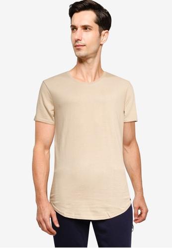 Factorie 褐色 休閒短袖素色T恤 98309AA64F5122GS_1