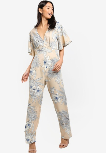 3f7956acc9f Shop ZALORA Flare Sleeves Jumpsuit Online on ZALORA Philippines