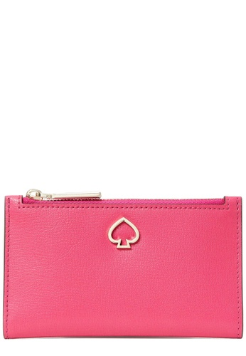 Kate Spade pink Kate Spade Adel Small Slim Bifold Wallet in Bright Magenta 8DF8EAC1771A66GS_1