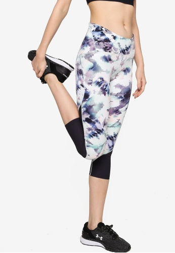 Under Armour blue and purple and multi UA Fly Fast HG Printed Crop Tights 0C0DBAA24C388FGS_1