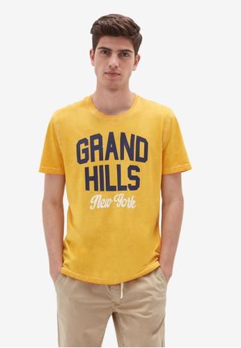 OVS yellow Cotton Print T-Shirt 33F6FAA88E3C5DGS_1