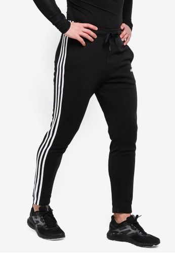 0921a1d9e8895 adidas black adidas performance essentials 3 stripes tapered pants  05197AA28E15B4GS_1