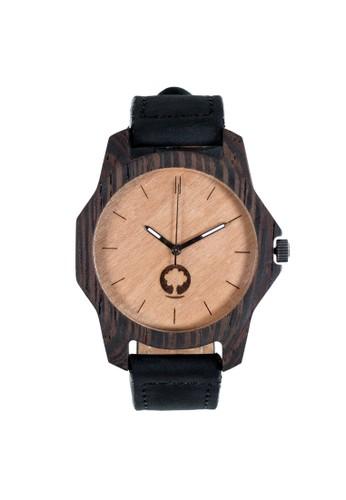 柔和系列esprit 香港 outlet象牙白黑檀木錶, 錶類, 時尚型