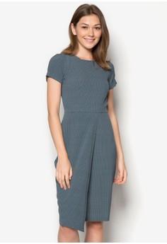 Ditsy Print Front Split Wrap Dress