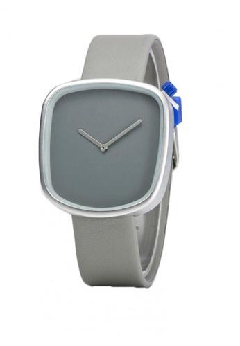 Greatvalueplus grey Johnson NYA231 Unique Leather Men's Watch 3C1D4AC0A1ECA5GS_1