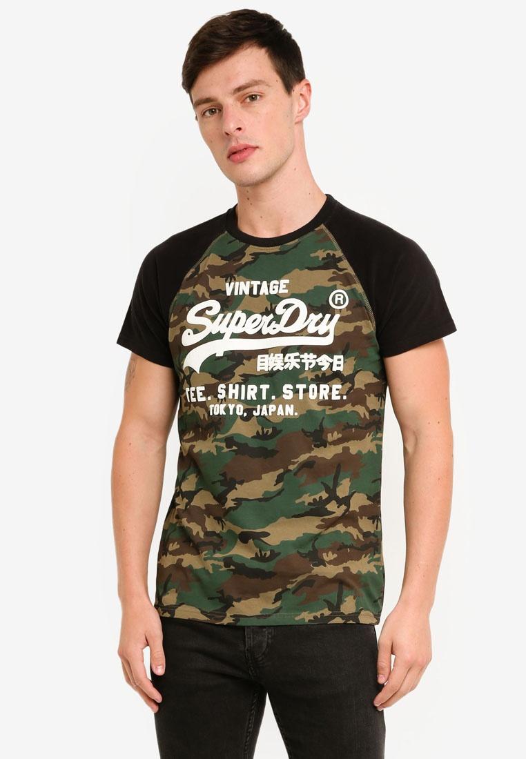 Raglan Camo Tee Camo Superdry Shirt Shop Hqzfw