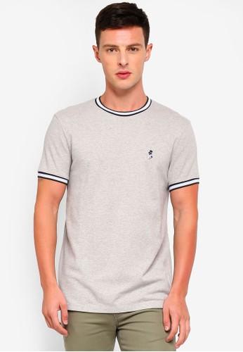 Jack Wills grey Baildon Pique Ringer T-Shirt E18B2AA04D554CGS_1