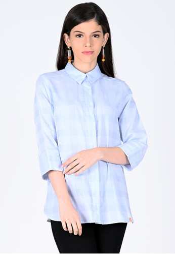 novel.mice blue Blue Sky 3/4 Seleeve Shirt 63B20AAD264BA4GS_1