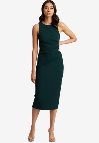 Tussah green Adina Midi Dress D223DAAFA57813GS_1