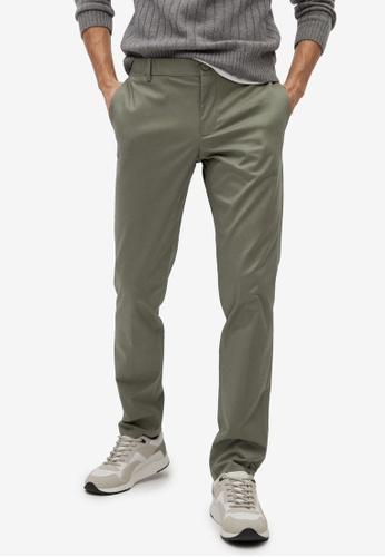 Mango Man green Slim Fit Serge Chino Trousers FE3D7AA4866EC5GS_1