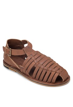 Faux Leather Fisherman Sandals